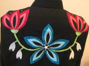 Faye Lone, sewing, regalia, quilts, Indigenous Artist, First Nations, Indigenous Arts Collective of Canada, Pass The Feather
