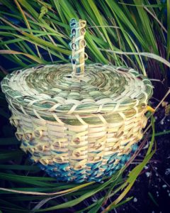 Carrie Hill, basket maker, basketry, jewelry, Indigenous Artist, First Nations, Indigenous Arts Collective of Canada, Pass The Feather