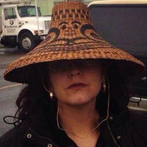 Naomi White, weaving, West Coast art, hats, Indigenous Artist, First Nations, Indigenous Arts Collective of Canada, Pass The Feather