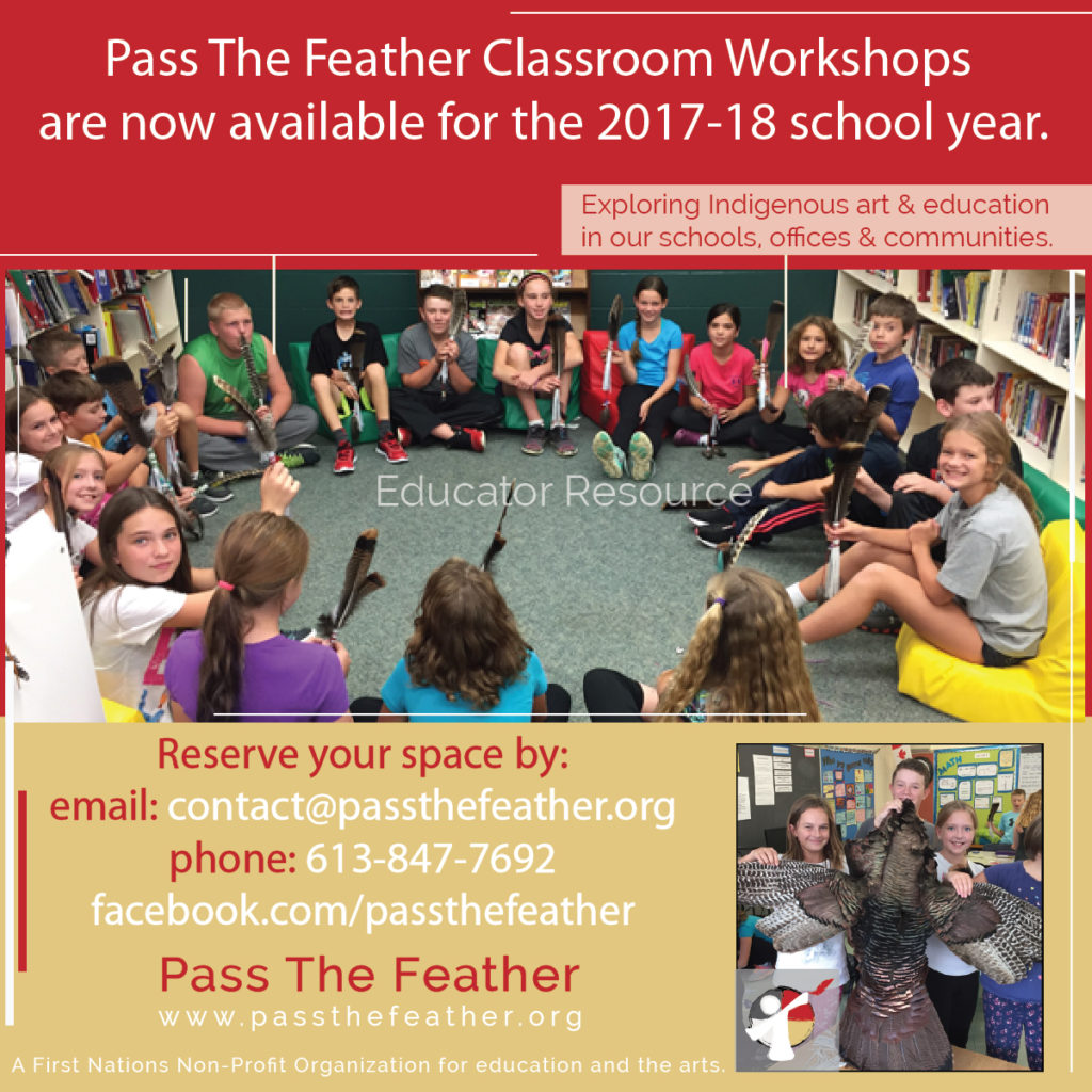 pass the feather art workshops
