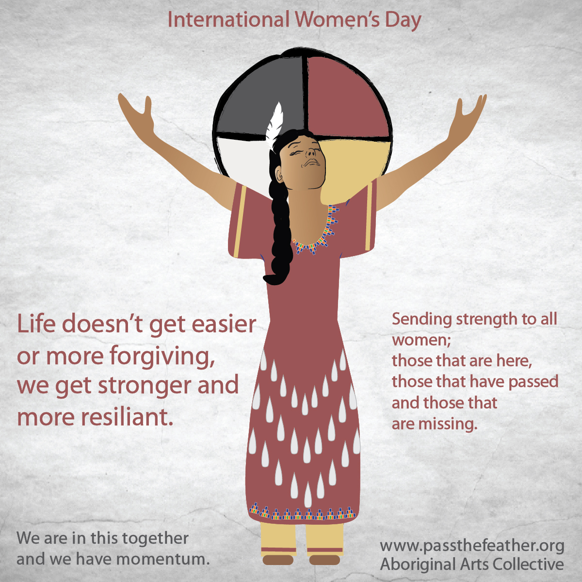 Women's-Day, Facebook posts, pass the feather