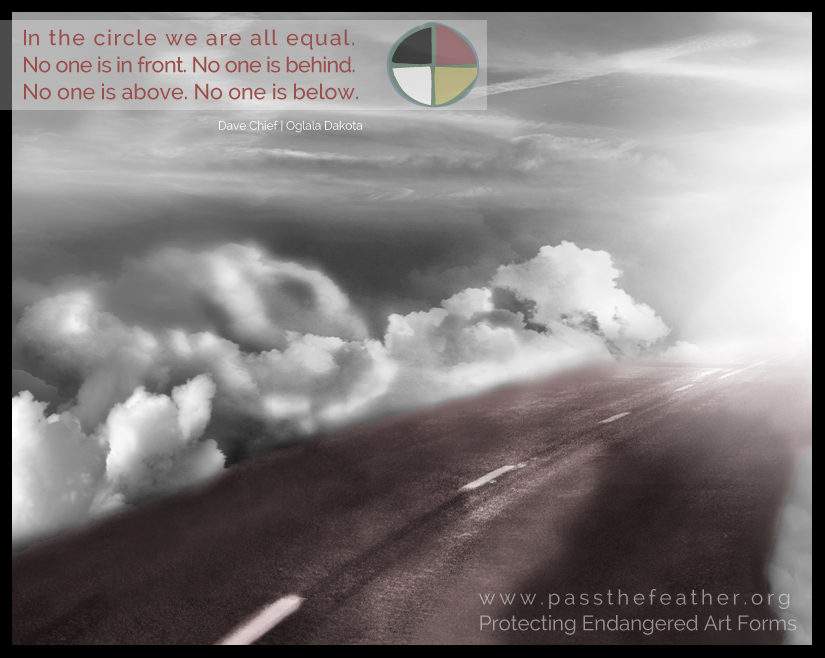 circle, pass the feather, first nations art directory, aboriginal arts collective of canada, classroom art exchange,
