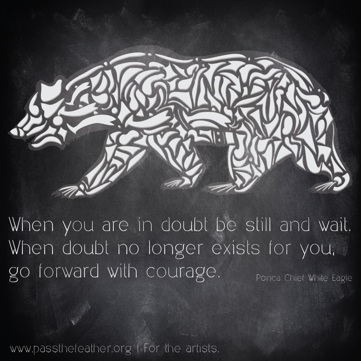 courage, Facebook posts, pass the feather