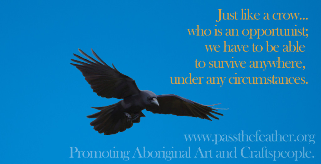 opportunist, pass the feather, first nations art directory, aboriginal arts collective of canada, classroom art exchange,