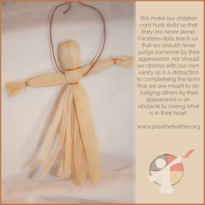 faceless-dolls, pass the feather, first nations art directory,