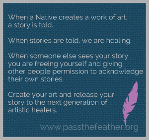 heal, pass the feather, first nations art directory, aboriginal arts collective of canada, classroom art exchange,