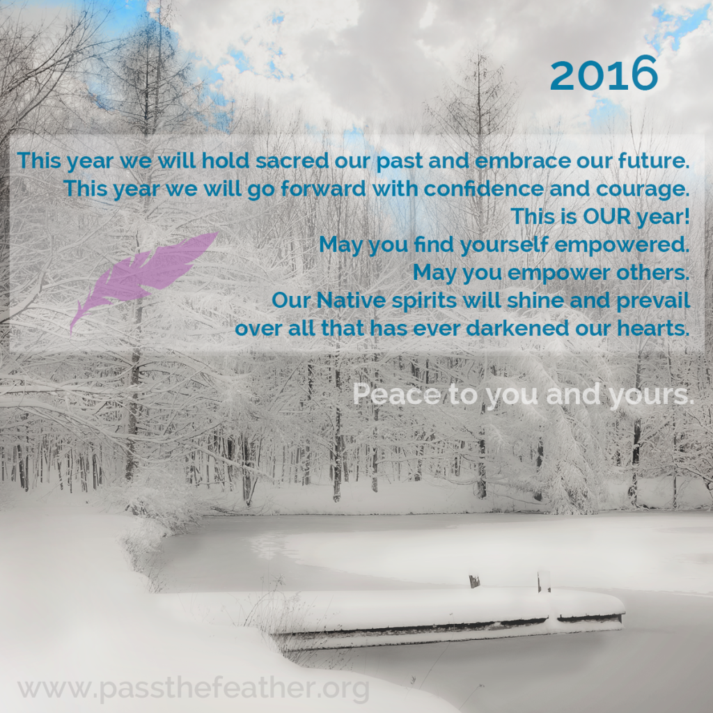 2016, new year, pass the feather