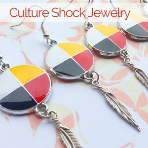 culture shock jewelry, moccasins, pass the feather