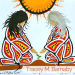 tracey barnaby, painter,, pass the feather