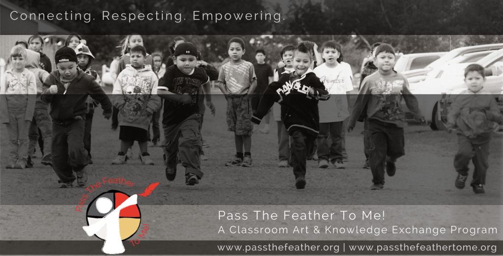 connecting, pass the feather, first nations art directory, aboriginal arts collective of canada, classroom art exchange,