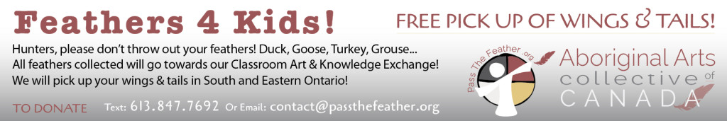 pass the feather, first nations art directory, aboriginal arts collective of canada, classroom art exchange,