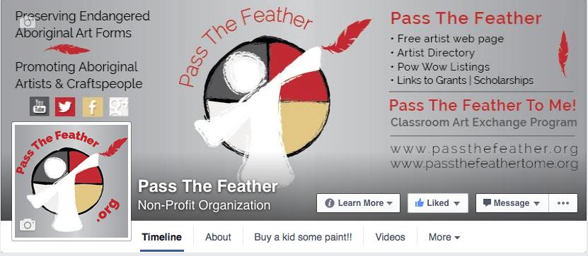 Facebook Cover Photo, Pass The Feather