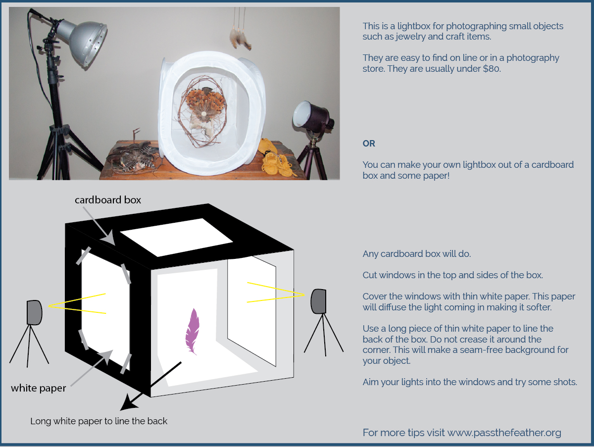 lightbox, photo tips, pass the feather