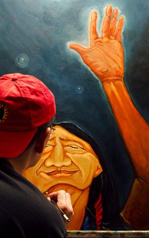 InMyStudio, Deron Ahsén:nase Douglas, pass the feather