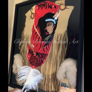 Chelsea Brooks, featherwork, painting, Indigenous Artist, First Nations, Indigenous Arts Collective of Canada, Pass The Feather
