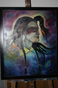 Sue Forget, painting, painter, Indigenous Artist, First Nations, Indigenous Arts Collective of Canada, Pass The Feather