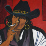 Sue Forget, painter, pass the feather, first nations art, native art,