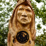 Donald Chrétien, first nations art, painter, graphic design, carver, pass the feather, native art