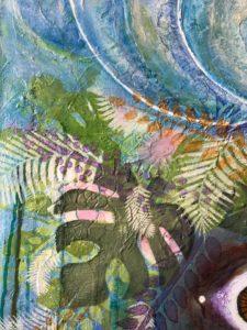 Jill Shimizu, artist, aboriginal art, pass the feather, aboriginal arts collective of canada, painting