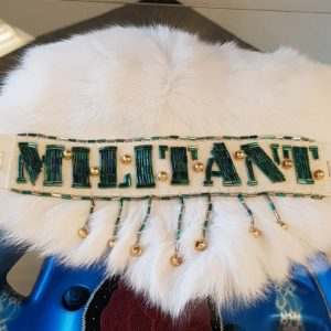Teresa Vander Meer-Chasse, beder, beadwork, installation art, upcycled art, multidisciplinary, Indigenous Artist, First Nations, Indigenous Arts Collective of Canada, Pass The Feather