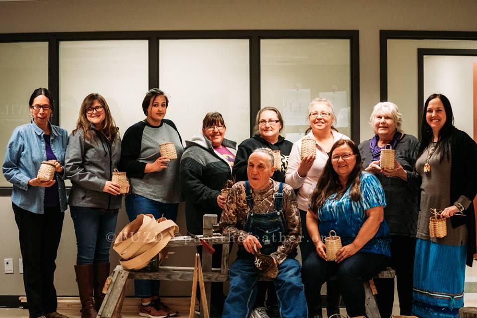 College, Aboriginal Arts Collective of Canada, black ash baskets
