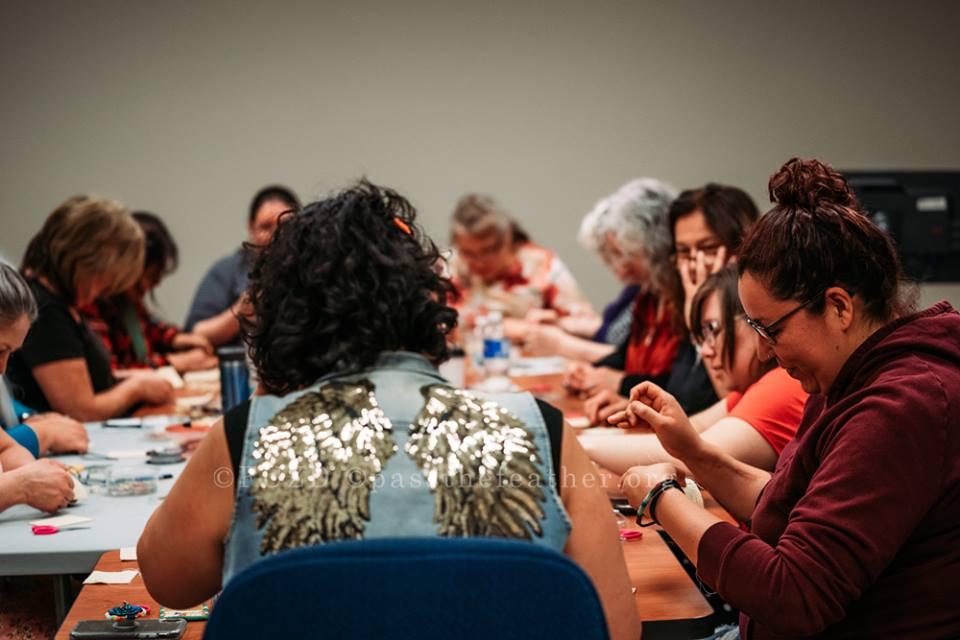 Indigenous Arts Conference, Willis College, Aboriginal Arts Collective of Canada, vendors, porcupine quilling workshop