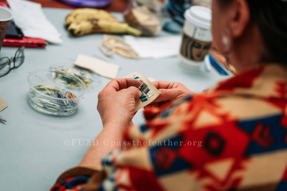 Indigenous Arts Conference, Willis College, Aboriginal Arts Collective of Canada, vendors, porcupine quilling workshop