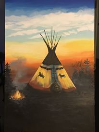 Laura Fauchon, visual storyteller, acrylic painter, painting, painter, visual art, Indigenous artist, first nations, indigenous arts collective of canada, pass the feather, indigenous art, aboriginal art, indigenous art directory