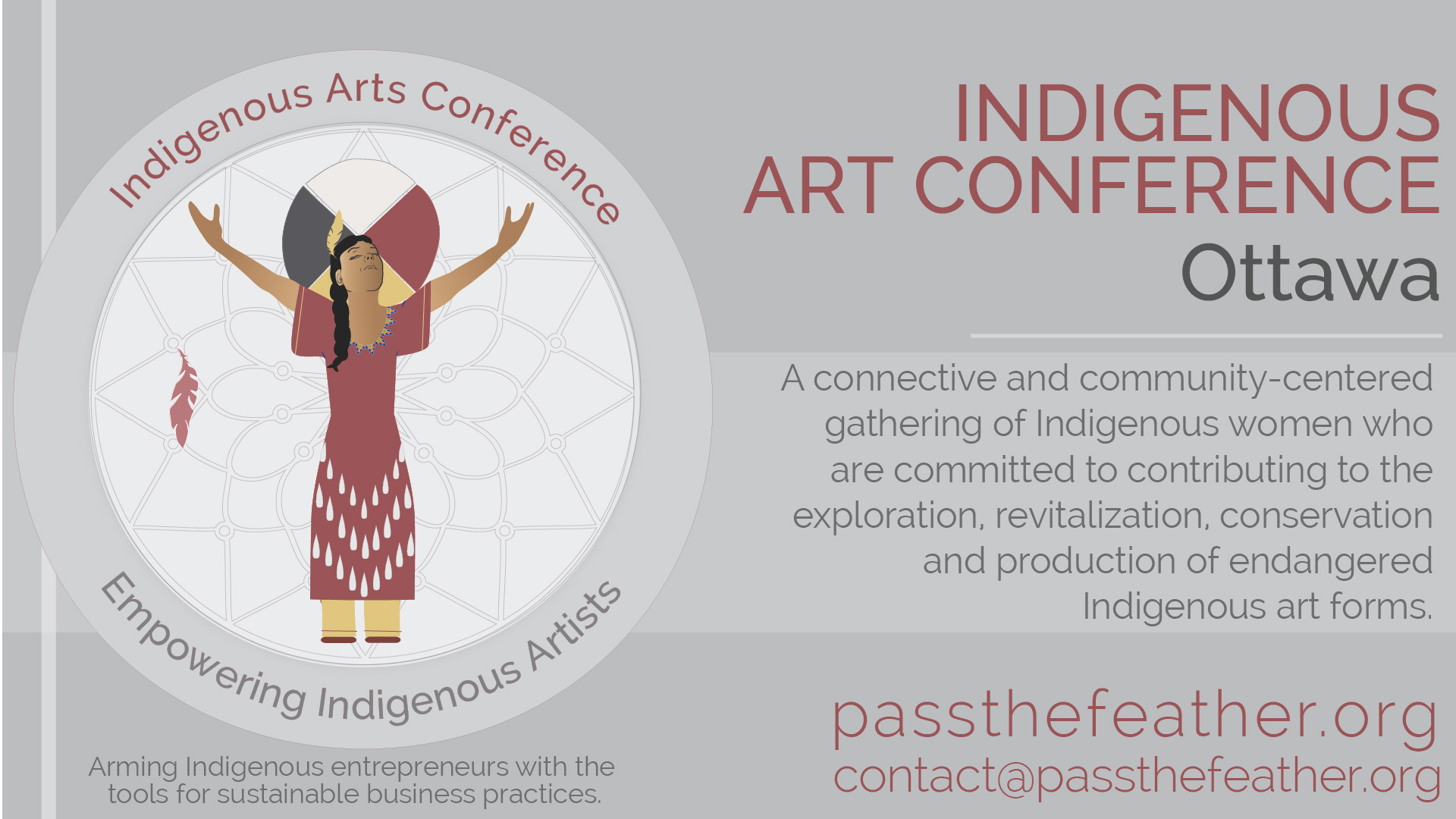 Indigenous women's arts conference, ottawa, iac, pass the feather, aboriginal arts collective of canada, conference