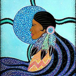 Delree Dumont, Delree's Native Art Gallery, Indigenous artist, painting, painter, workshops, first nations, indigenous arts collective of canada, pass the feather.