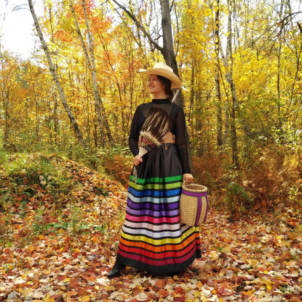 Marlana Thompson, aboriginal arts collective of canada, pass the feather, beadwork, regalia