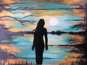 Chantal Lanouette, Indigenous artist, painter, painting, first nations, indigenous arts collective of canada, pass the feather.