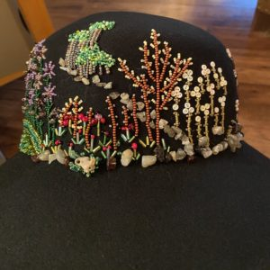 Matricia Bauer, Indigenous artist, beader, beadwork, drum maker, drums, hats, jewellery, moccasins, painter, painting, first nations, indigenous arts collective of canada, pass the feather.