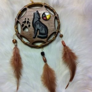 Jean Verdon, woodworking, dreamcatchers, feathers, Indigenous Artist, First Nations, Indigenous Arts Collective of Canada, Pass The Feather