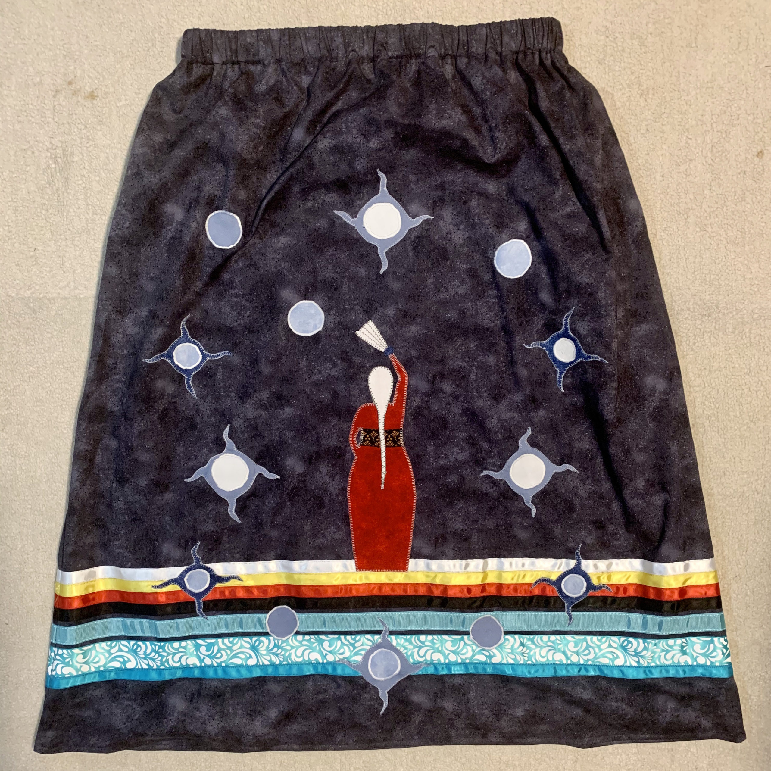 Bernice Collins-Shigwadaja, apparel & clothing, bags & wallets, beadwork, beader, birch bark, crafts, craft maker, quilling, quillwork, ribbon skirts, Indigenous Artist, First Nations, Indigenous Arts Collective of Canada, Pass The Feather