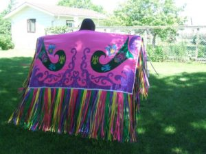 Georgina Crate, apparel & clothing, regalia, workshops, facilitator, Indigenous Artist, First Nations, Indigenous Arts Collective of Canada, Pass The Feather