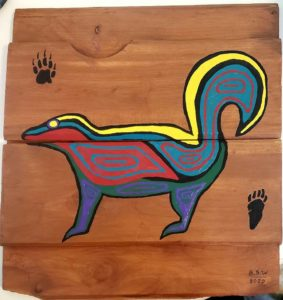 Cari Lecocq, carving, carver, painting, painter, woodworking, Indigenous Artist, First Nations, Indigenous Arts Collective of Canada, Pass The Feather