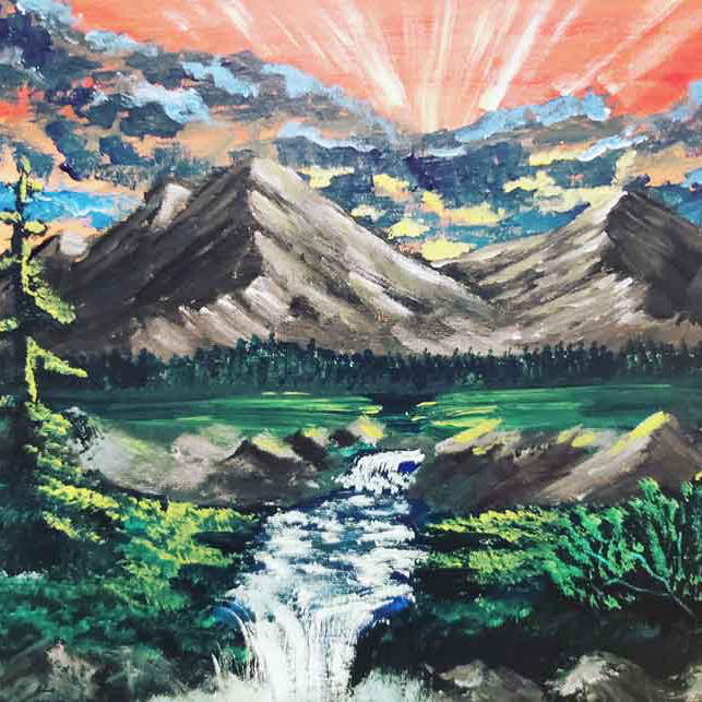 CJ Smith, painter, painting, Indigenous Artist, First Nations, Indigenous Arts Collective of Canada, Pass The Feather