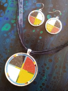 Elise Campeau, Louve Art, crafts, craft maker, jewelry maker, jewelry, painting, painter, visual arts, Indigenous Artist, First Nations, Indigenous Arts Collective of Canada, Pass The Feather