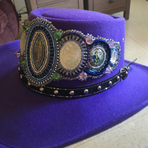 Sharon McKeigan, Beadwork, beader, hats, Indigenous Artist, First Nations, Indigenous Arts Collective of Canada, Pass The Feather