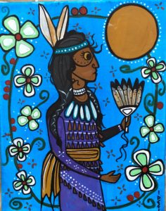 Deanna Therriault, drawing, painting, painter, storyteller, visual arts, Indigenous Artist, First Nations, Indigenous Arts Collective of Canada, Pass The Feather