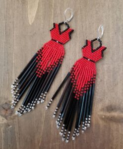 Tsiokeriio Hagen Brant, beadwork, beader, jewelry, Indigenous Artist, First Nations, Indigenous Arts Collective of Canada, Pass The Feather