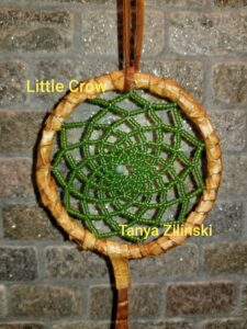 Tanya Zilinski, beadwork, beader, dreamcatcher, crafts, Indigenous Artist, First Nations, Indigenous Arts Collective of Canada, Pass The Feather