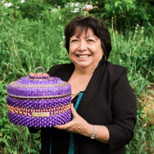 Nanci Ransom, black ash, basketmaker, Indigenous Artist, First Nations, Indigenous Arts Collective of Canada, Pass The Feather