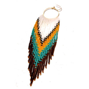 Monique Derouin, beadwork, jewelry, Indigenous Artist, First Nations, Indigenous Arts Collective of Canada, Pass The Feather