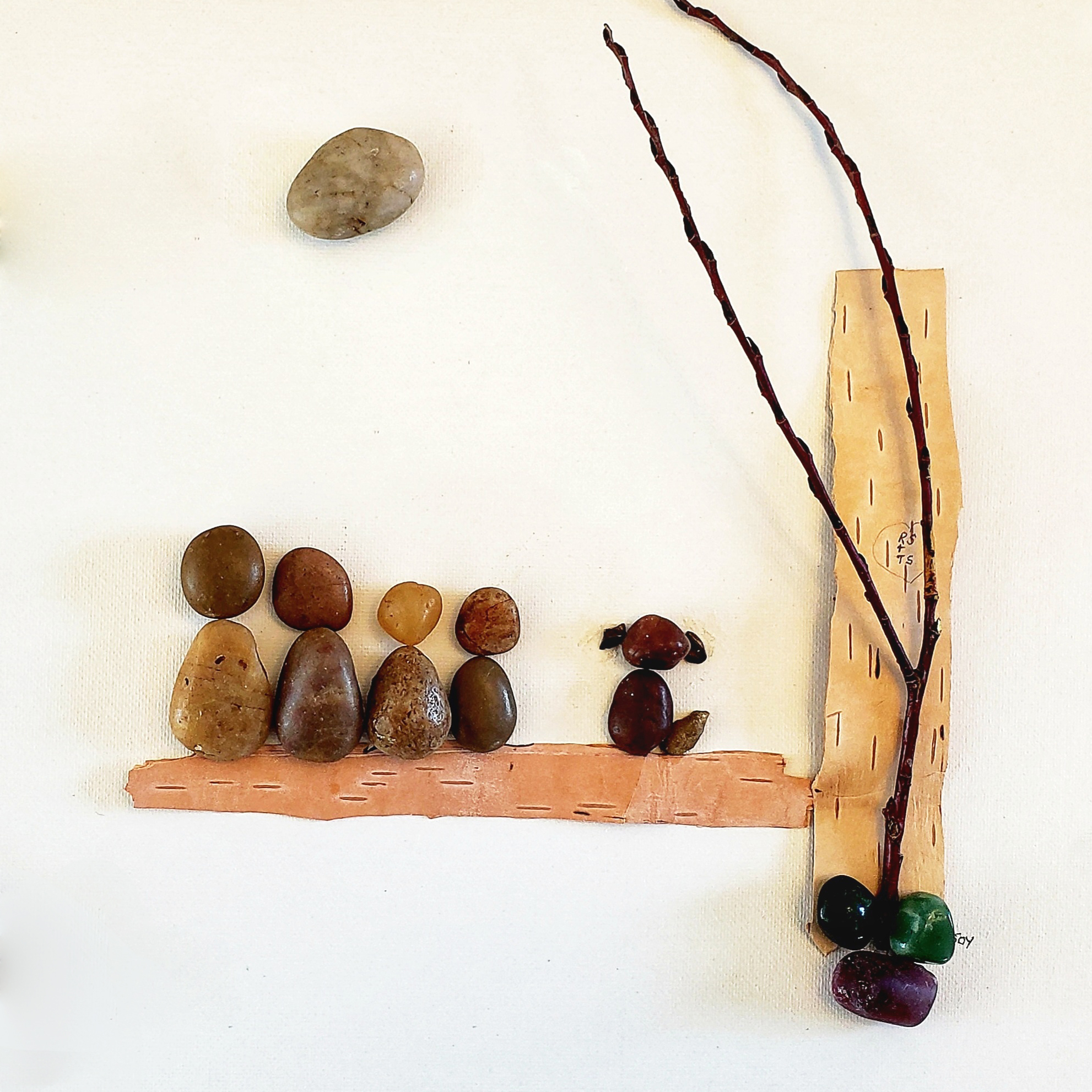 Joy Flaman, pebble, stone, Indigenous Artist, First Nations, Indigenous Arts Collective of Canada, Pass The Feather