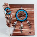Chelsea Brooks, painted feathers, aboriginal arts collective of canada, pass the feather, feather art, aboriginal artwork, dream catcher painting