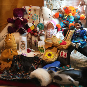 Marguerite Charette, crafts, teddy bears, Indigenous Artist, First Nations, Indigenous Arts Collective of Canada, Pass The Feather