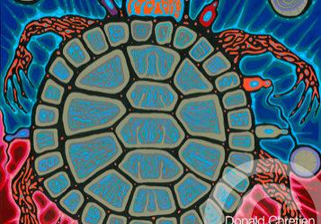 13 moons, Donald Chrétien, painter, graphic design, carver, pass the feather