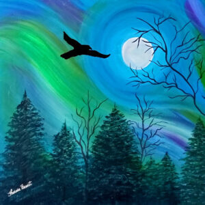 Theresa Brant, Acrylic Artist, Indigenous Artist, First Nations, Indigenous Arts Collective of Canada, Pass The Feather